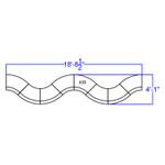 8 piece alon modular reception set dimensions