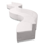 flash furniture alon curved white reception seating set overhead view