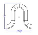 alon series white reception layout dimensions