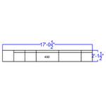 alon series reception bench configuration dimensions