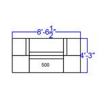 modular black lounge seating set dimensions