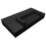 modular black lounge seating set