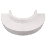 curved white lounge seating set