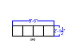 reception bench dimensions