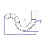 alon white 9 piece reception sectional dimensions