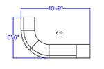 alon modular j-shaped reception sectional dimensions
