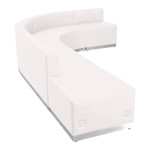 flash furniture j-shaped reception sectional