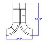 alon contemporary black reception sectional dimensions