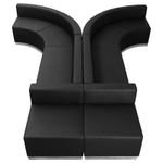 alon contemporary black reception sectional