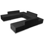 u-shaped lounge seating set