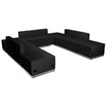 modern black lounge seating set