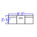 3 piece alon series reception bench dimensions