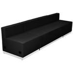 modular black sofa bench