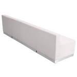 alon white leather 3 piece reception bench back view