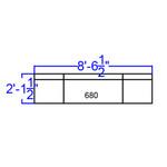 alon white leather 3 piece reception bench dimensions