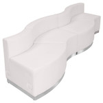 alon modular 4 piece curved sofa angled profile
