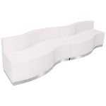 alon modular 4 piece curved sofa in white