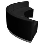 flash furniture alon curved reception sectional set side view