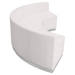 alon 3 piece white reception sectional side view