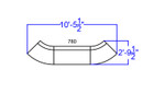 alon modular reception sectional dimensions