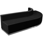black alon series 3 piece lounge sectional angled view