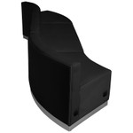 flash furniture alon black leather wave sectional side view
