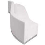 white 3 piece alon sectional set side view