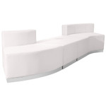 4 piece white lobby sectional set