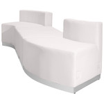 4 piece white lobby sectional set alternate view