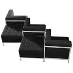 5 piece flash furniture imagination series chair and ottoman set