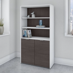 jamestown bookcase white and storm gray