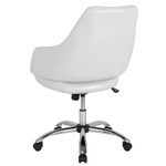 madrid white office chair back view
