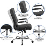 flash furniture high back ribbed office chair features