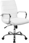 flash furniture contemporary white office chair