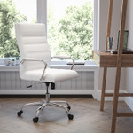 Flash Furniture High Back White LeatherSoft Office Chair
