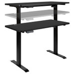 """48"""" x 24"""" height adjustable electric desk in motion"""