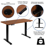 height adjustable electric desk features