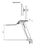 lotus rt1 sit to stand workstation dimensions 3