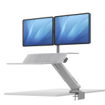 lotus rt2 dual monitor sit to stand attachment - in white