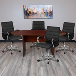 mahogany conference table and chairs set