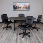 6' gray conference table and chairs bundle
