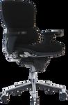 ergohuman fabric office chair angled