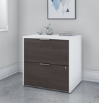 storm gray and white jamestown file cabinet