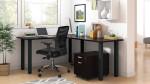 superior laminate l-desk in espresso
