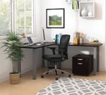 espresso superior laminate l-desk