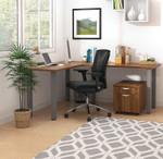 autumn walnut superior laminate l-desk