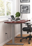 dark cherry 71 x 30 height adjustable table