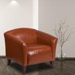 cognac lounge chair