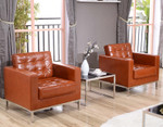 lacey cognac chairs