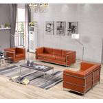 3 piece cognac leather lounge set